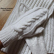 """Аксессуары ручной работы. Ярмарка Мастеров - ручная работа """"Снежность"""" варежки и шарфик. Handmade."""