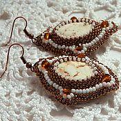 Украшения handmade. Livemaster - original item Earrings Beaded ART. 00791. Handmade.