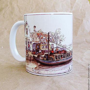 """Посуда ручной работы. Ярмарка Мастеров - ручная работа Чашка """"Амстердам. Путешествие"""". Handmade."""