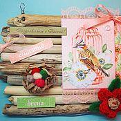 Подарки к праздникам handmade. Livemaster - original item Driftwood card. Handmade.