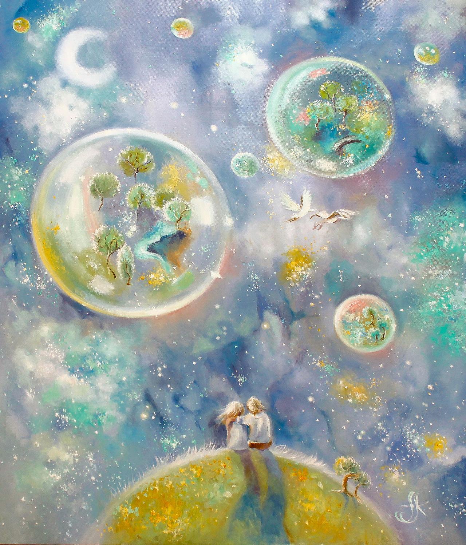 Картина маслом Двое. Цветущие сады, Картины, Москва,  Фото №1