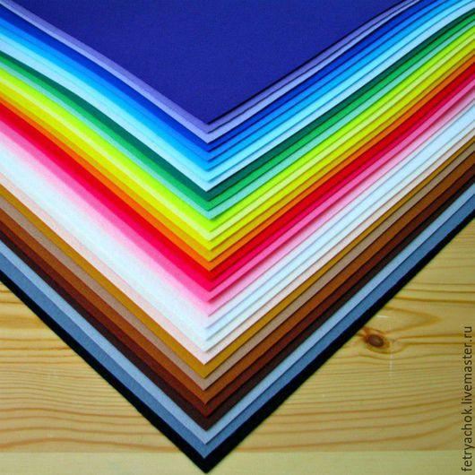 Другие виды рукоделия ручной работы. Ярмарка Мастеров - ручная работа. Купить Набор жесткого корейского фетра 36 цветов. Handmade.