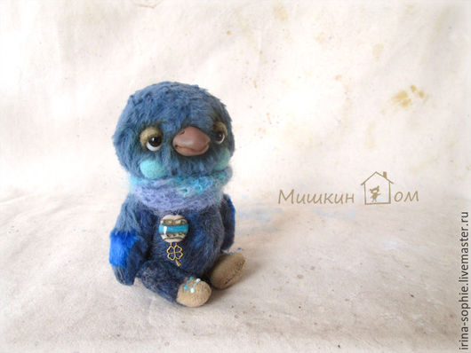 Мишки Тедди ручной работы. Ярмарка Мастеров - ручная работа. Купить Птица синяя. Тедди. Handmade. Синий, синяя птица