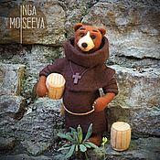 Куклы и игрушки handmade. Livemaster - original item Felted  toy The Monk Bear. Handmade.