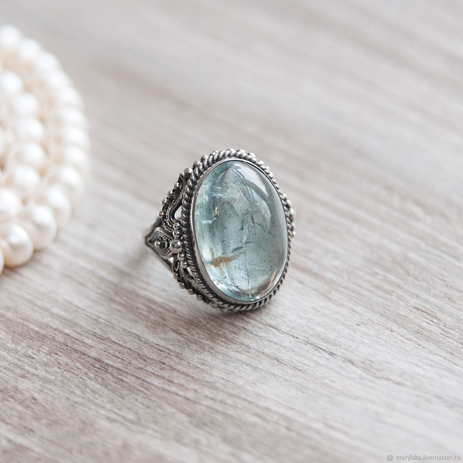 diamonds aquamarine in tw gold white ring with oval jewellery