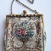 handmade. Livemaster - original item ANTIQUE HANDBAG FROM CZECHOSLOVAKIA MICRO EMBROIDERY. Handmade.