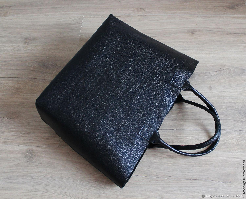 Handbags handmade. Livemaster - handmade. Buy Big leather bag (big leather bag).Gift, big bag, black bag