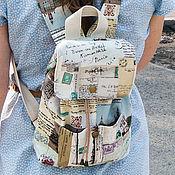 """Сумки и аксессуары ручной работы. Ярмарка Мастеров - ручная работа """"Я пришлю тебе открытку"""". Маленький рюкзачок.. Handmade."""