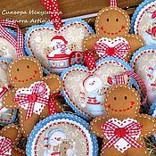 Подарки к праздникам handmade. Livemaster - original item Toys from felt Snowman Gingerbread man 3pc Set. Handmade.