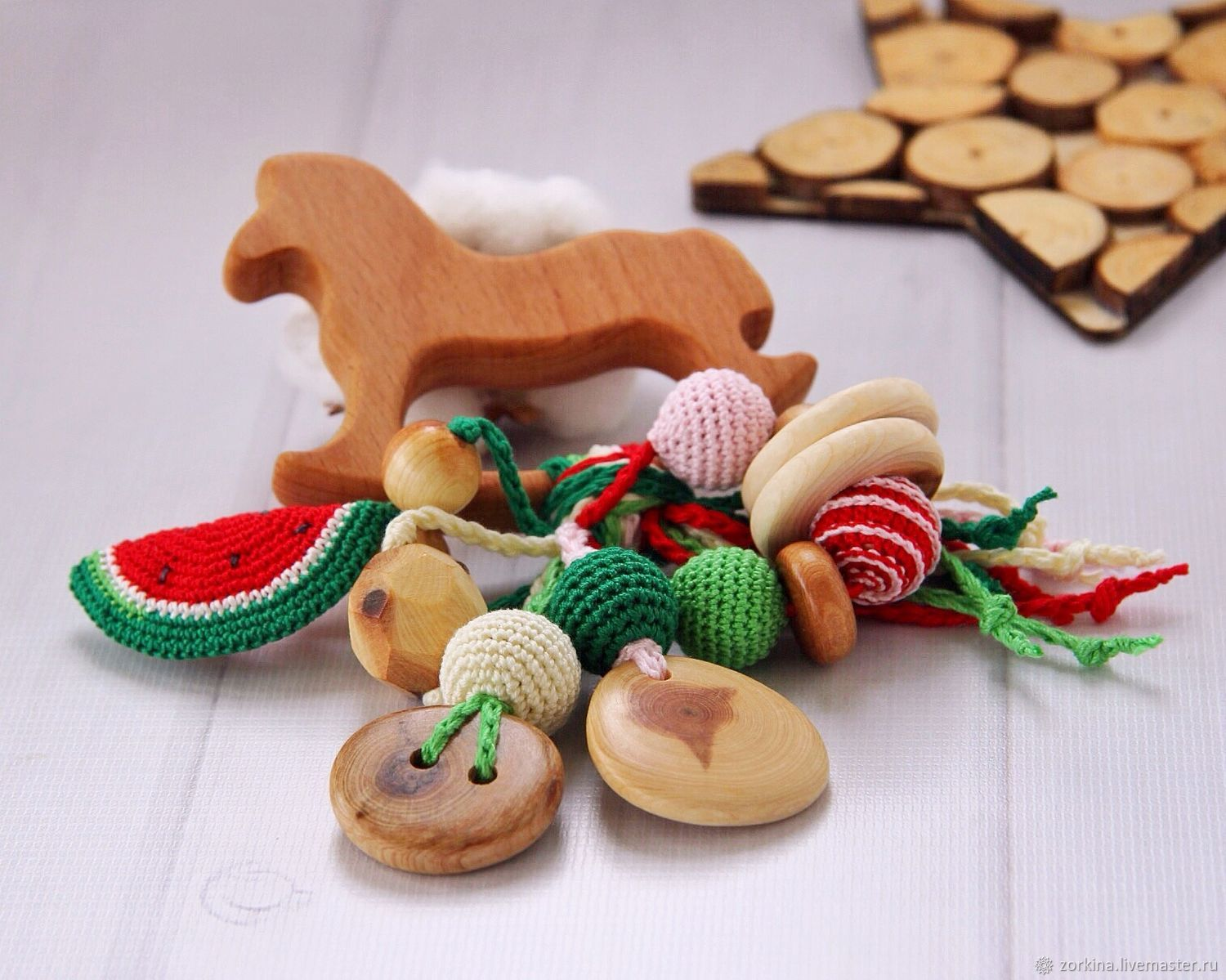 Rattle, teething toy for baby juniper Favorite horse, Teethers and rattles, Moscow,  Фото №1