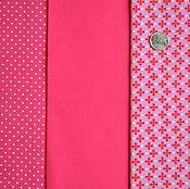 Набор немецких тканей Stars&Dots pink 2