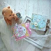 Упаковочная коробка ручной работы. Ярмарка Мастеров - ручная работа Открытка-коробочка на день рождения, крестины девочки и мальчика. Handmade.