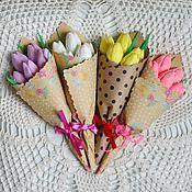 Подарки на 8 марта ручной работы. Ярмарка Мастеров - ручная работа Букет из тюльпанов из мыла. Handmade.