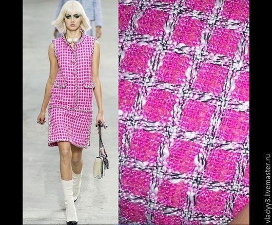 Шитье ручной работы. Ярмарка Мастеров - ручная работа. Купить Chanel твид снова в продаже. Handmade. Розовый, итальянские ткани