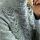 Кофты и свитера ручной работы. Свитер валяный Снежный барс. Марина Власенко. Ярмарка Мастеров. Свитшот, серый