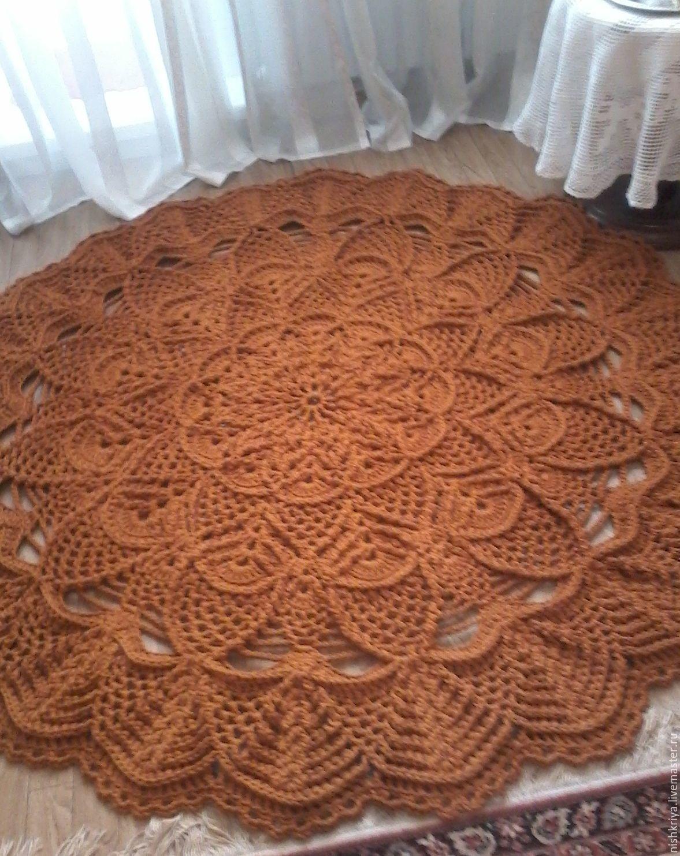 Вязание коврика шнуром 39