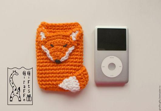 """Для телефонов ручной работы. Ярмарка Мастеров - ручная работа. Купить Чехол на iPod Classic """"Спящий лис"""". Handmade. Рыжий"""