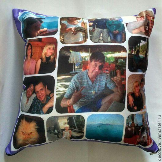 Подарки для мужчин, ручной работы. Ярмарка Мастеров - ручная работа. Купить Подушка с фото на подушке подарок на день рождения мужчине подарок муж. Handmade.