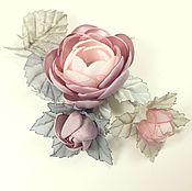 Украшения handmade. Livemaster - original item rose of the morning valley. brooch bouquet handmade fabric. Handmade.