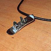 Украшения handmade. Livemaster - original item Silver pendant with gold