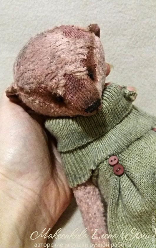Мишки Тедди ручной работы. Ярмарка Мастеров - ручная работа. Купить Оливия. Handmade. Бледно-розовый, плюш, шплинты