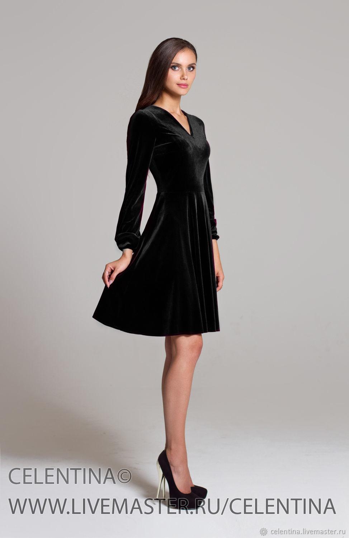 Черное короткое платье на новый год