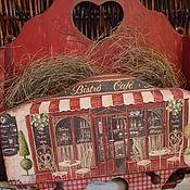 """Для дома и интерьера ручной работы. Ярмарка Мастеров - ручная работа Ключница-вешалка """"Старое кафе"""". Handmade."""