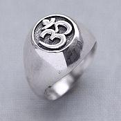 Украшения handmade. Livemaster - original item Silver ring Om. Handmade.
