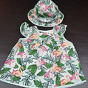 Платье ручной работы. Ярмарка Мастеров - ручная работа Платье с панамкой. Handmade.