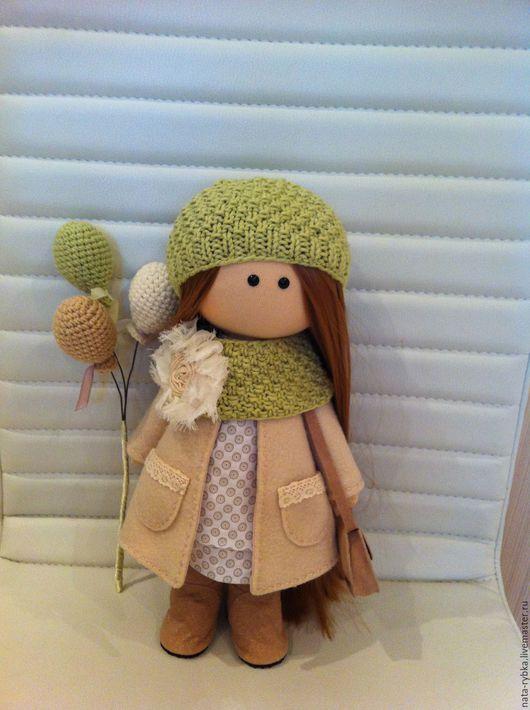 Коллекционные куклы ручной работы. Ярмарка Мастеров - ручная работа. Купить текстильная интерьерная кукла ручной работы. Handmade. Бежевый