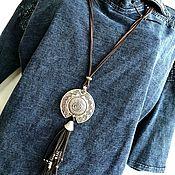 Украшения handmade. Livemaster - original item Decoration-large boho pendant. Stylish pendant. Handmade.