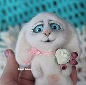 Куклы и игрушки handmade. Livemaster - original item Copyright felted toy white Bunny SIM. Handmade.