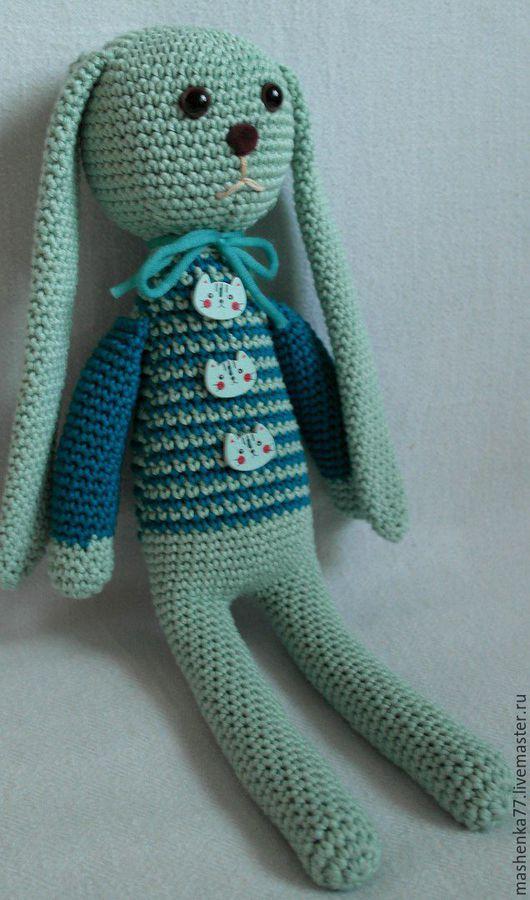 Женские сумки ручной работы. Ярмарка Мастеров - ручная работа. Купить Мятный заяц. Handmade. Вязание крючком, мятный цвет