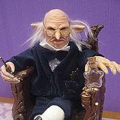 Портретная кукла ручной работы. Ярмарка Мастеров - ручная работа Управляющий банком Гринготтс. Handmade.
