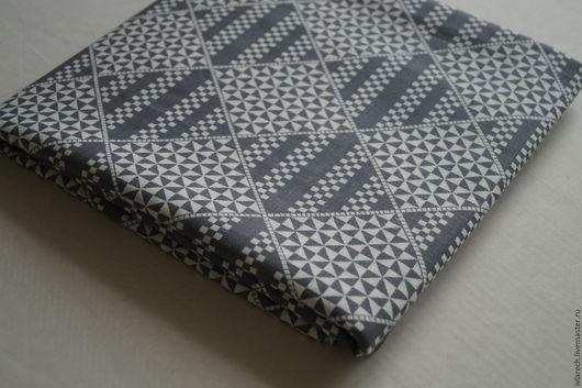 """Шитье ручной работы. Ярмарка Мастеров - ручная работа. Купить Ткань  для пэчворка   хлопок 100 %"""" Геометрический серый"""". Handmade."""
