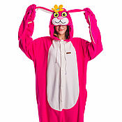 Субкультуры handmade. Livemaster - original item Bunny Pink Kigurumi - Custom Handmade - Anti-pill Fleece Pyjamas. Handmade.
