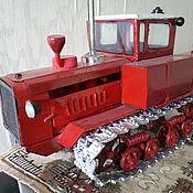 Куклы и игрушки ручной работы. Ярмарка Мастеров - ручная работа Игрушка - модель советского трактора ДТ-175 Волгарь. Handmade.