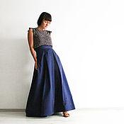 Одежда ручной работы. Ярмарка Мастеров - ручная работа СКИДКА 50%!!! Длинная юбка из хлопка и шелка на лето. Handmade.