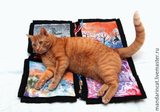 Текстиль, ковры ручной работы. Ярмарка Мастеров - ручная работа. Купить Модуль валяного коврика для пэчворк ковра. Handmade. Разноцветный