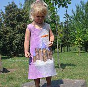 """Работы для детей, ручной работы. Ярмарка Мастеров - ручная работа Детское валяное платье """"Замок в облаках"""", сарафан для девочки. Handmade."""