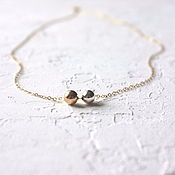 Украшения handmade. Livemaster - original item Chain with beads of silver and Goldfield. Handmade.