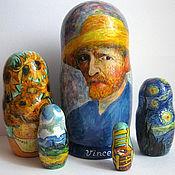 handmade. Livemaster - original item Nesting doll Van Gogh. Handmade.