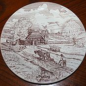 Винтаж handmade. Livemaster - original item Beautiful decorative plate