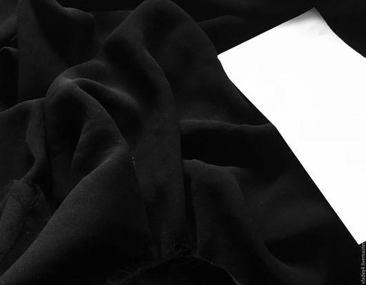 Шитье ручной работы. Ярмарка Мастеров - ручная работа. Купить Креп шелковый 0.92 см. Handmade. Черный