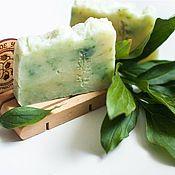 Косметика ручной работы handmade. Livemaster - original item Natural soap Tea tree and eucalyptus from scratch for problem skin. Handmade.