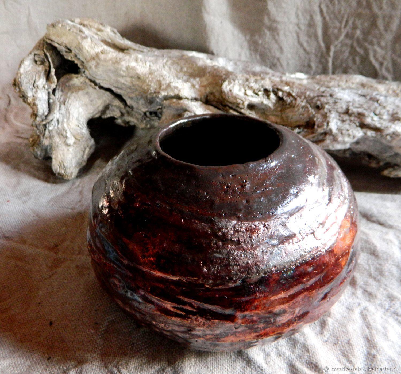 Раку-ваза Круглая медная
