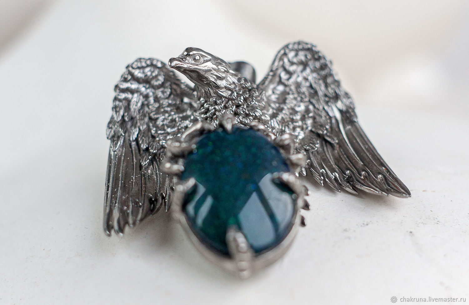 Massive silver eagle pendant with opal ' Alerion', Pendants, Moscow,  Фото №1