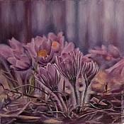 Картины и панно ручной работы. Ярмарка Мастеров - ручная работа Первые цветы. Handmade.