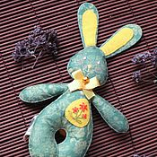 Куклы и игрушки handmade. Livemaster - original item The Easter Bunny out of felt with a floral print and hand embroidery. Handmade.