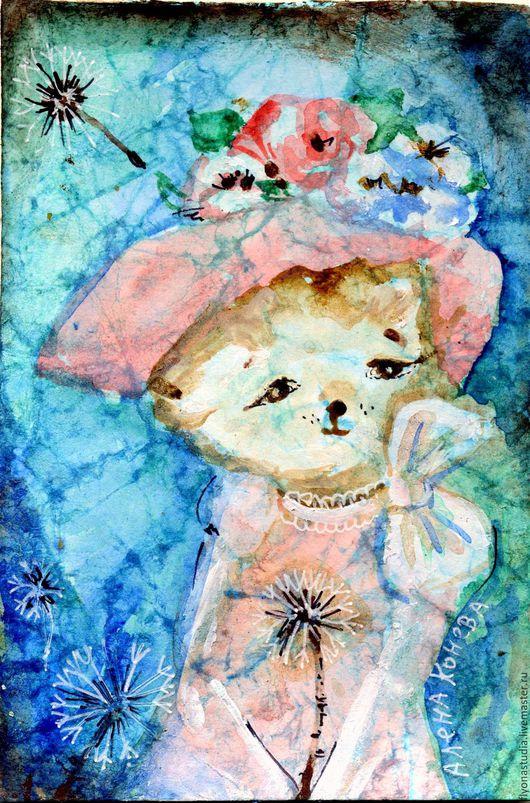 Миниатюра Розовая шляпка. Чудесная милая кошечка на прогулке. Авторский сюжет, эксклюзивное исполнение Сказка в теплоте рук Алены Коневой